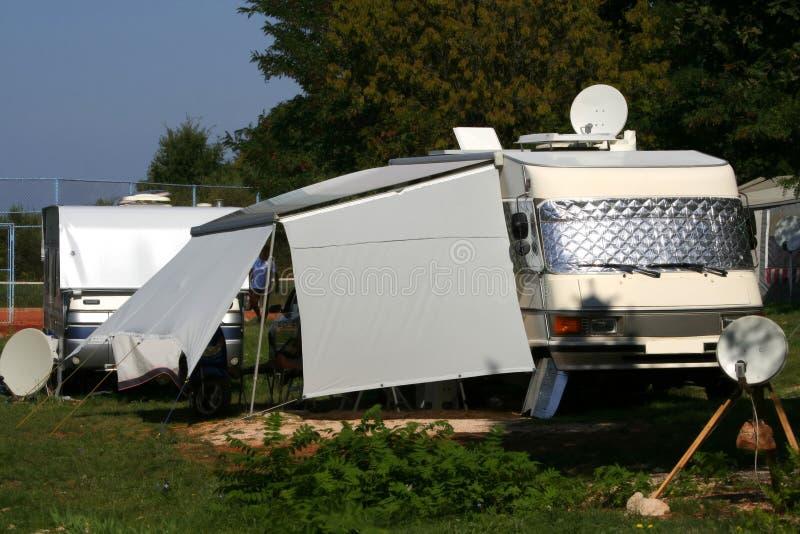 Modern caravan royalty free stock images