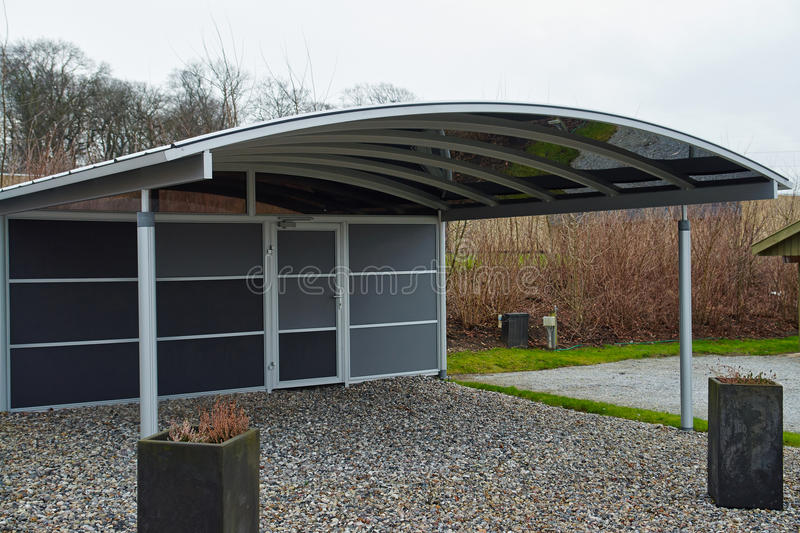 Download Modern Carport Car Garage Parking Stock Photo - Image: 37764042