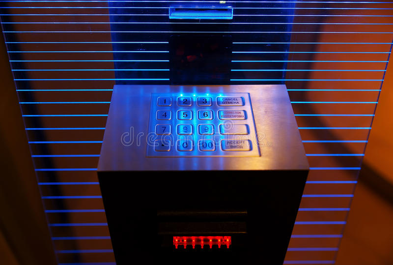 Download Modern cash dispense stock photo. Image of investment - 12884010