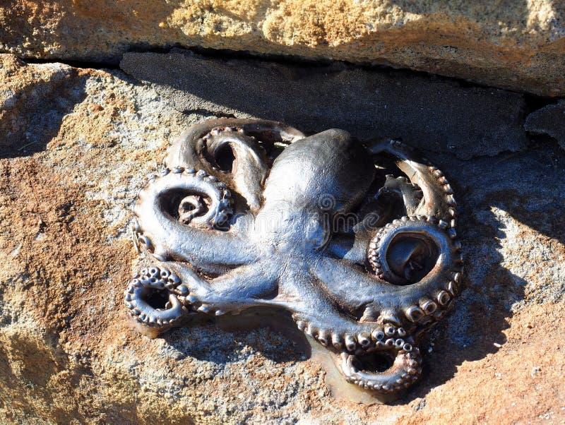 Bas Relief Octopus Sculpture, Manly Beach, Sydney, Australia royalty free stock photos