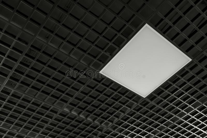 modern ceiling lamp with black color stock images