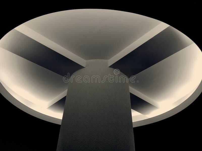 Modern ceiling lighting stock photography