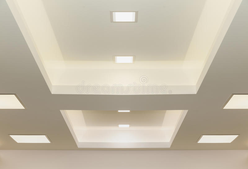 Modern ceiling lights royalty free stock image