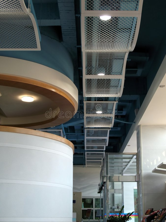 Modern Ceiling and Lobby stock photography
