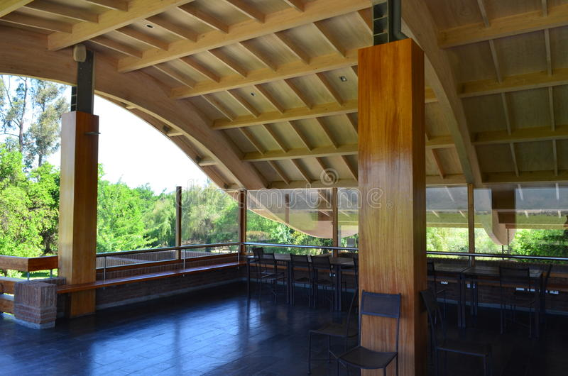 Modern ceiling wood structure. The image show a modern ceiling wood structure royalty free stock photography