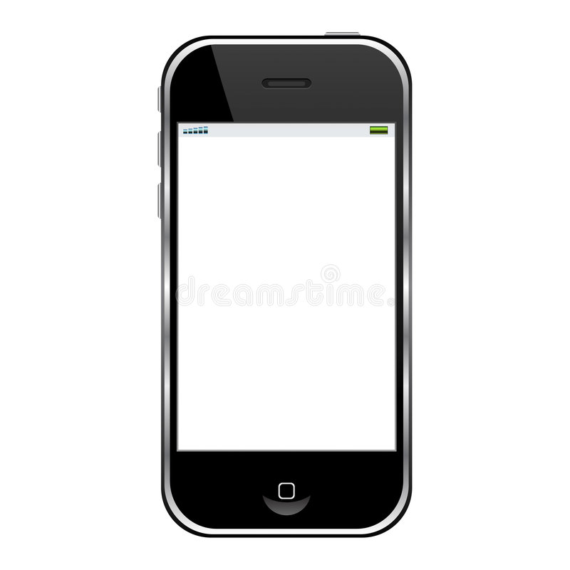 Modern cell phone. Isolated over white background