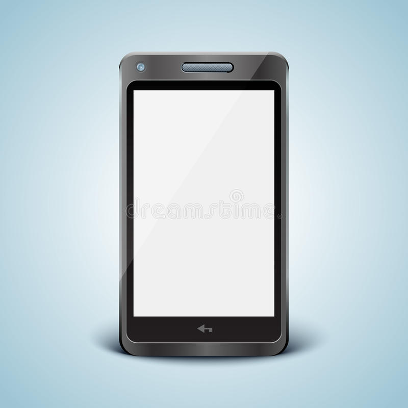 Download Modern Cell Phone With White Screen. Stock Image - Image: 25471631