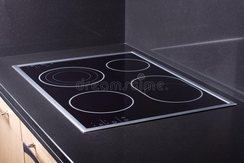 Modern ceramic metal stove royalty free stock image