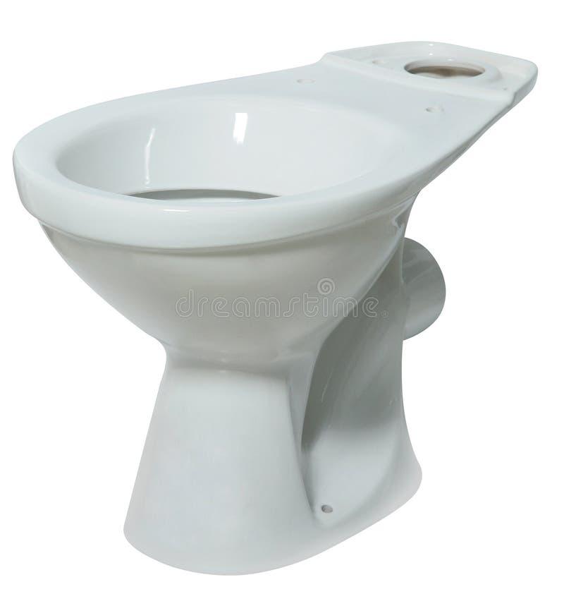 Toilet bowl isolated on white background. Modern ceramic Toilet bowl without a lid isolated on white background royalty free stock images