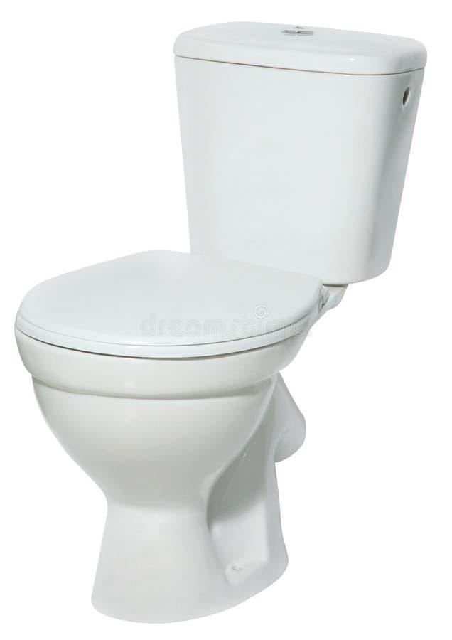 Toilet bowl isolated on white background. Modern ceramic Toilet bowl with a lid isolated on white background royalty free stock images