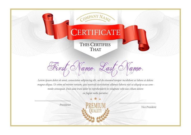 Modern Certificaat en diploma'smalplaatje Vector royalty-vrije illustratie