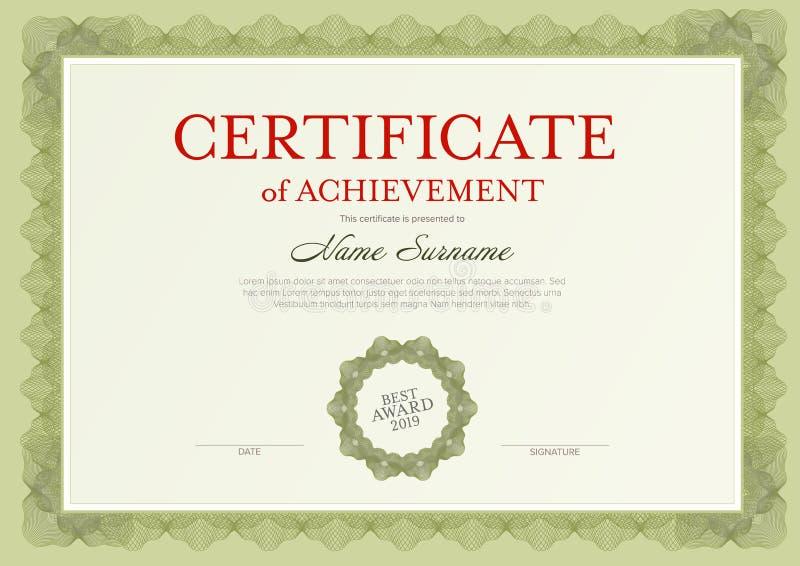 Modern certificaatmalplaatje vector illustratie