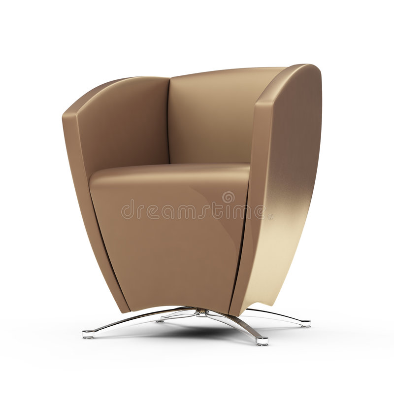 Download Modern chair against white stock illustration. Image of lifestyle - 8632969