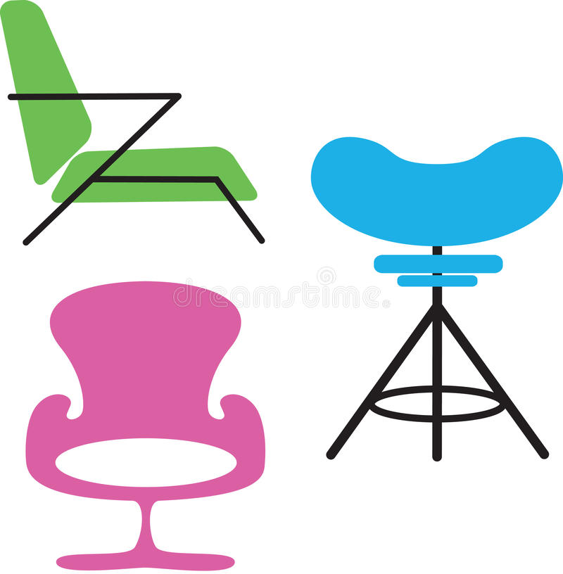 Download Modern Chairs stock illustration. Image of furniture - 22738902