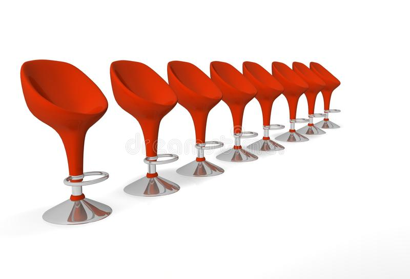 Modern chairs for business meeting stock illustration