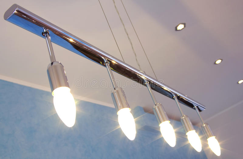 Modern chandelier royalty free stock images