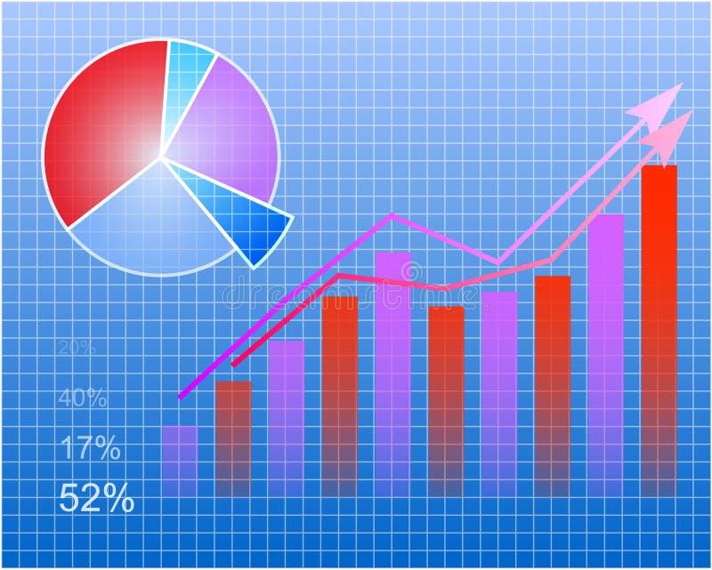 Modern Chart stock illustration