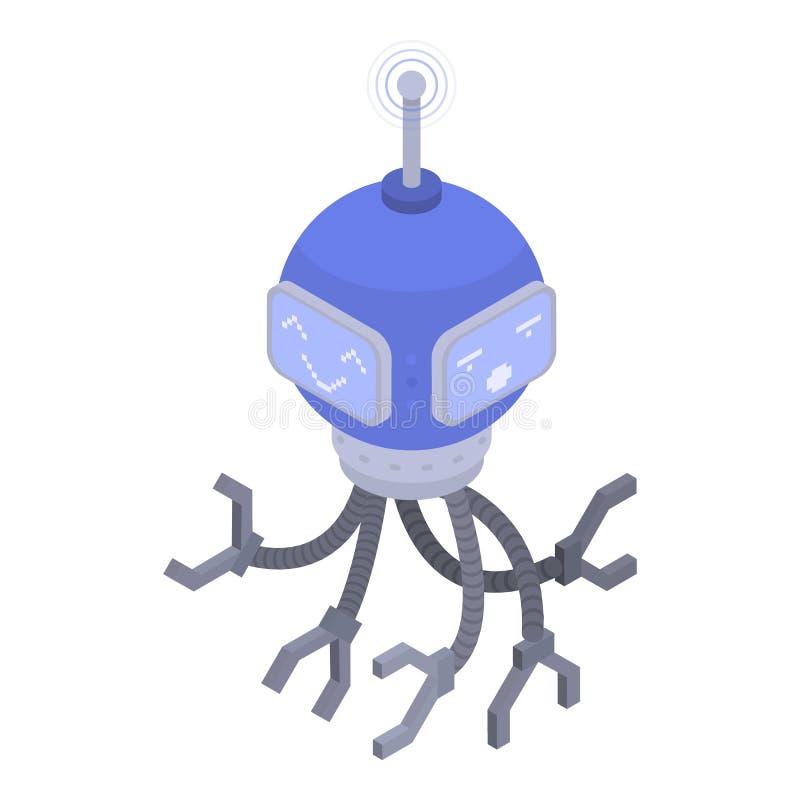 Modern chatbotsymbol, isometrisk stil royaltyfri illustrationer