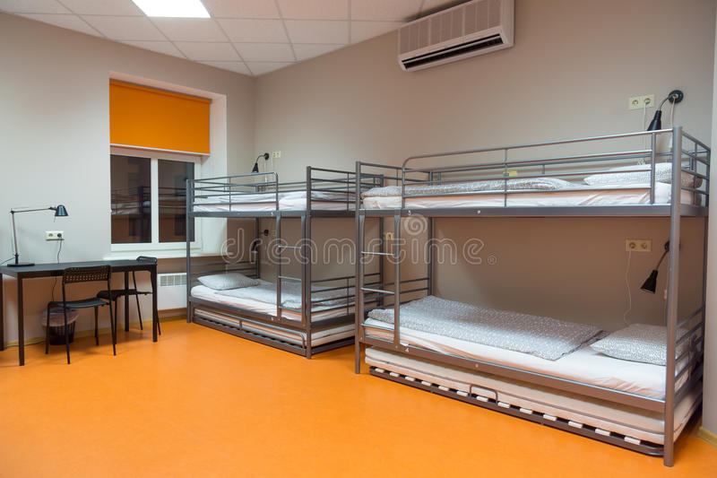 Download Modern Cheap Hostel Interior Stock Photo