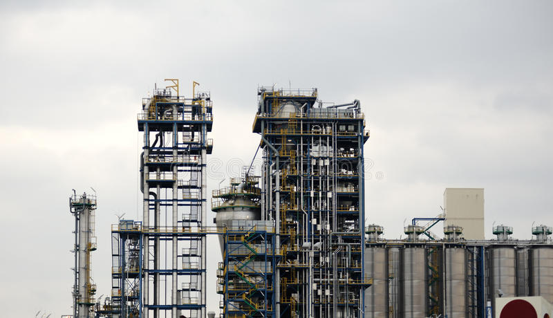 Modern chemical factory royalty free stock photo