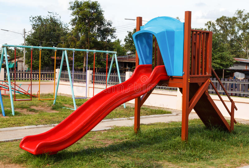 Download Modern Children Playground In Park Stock Image - Image: 32548975