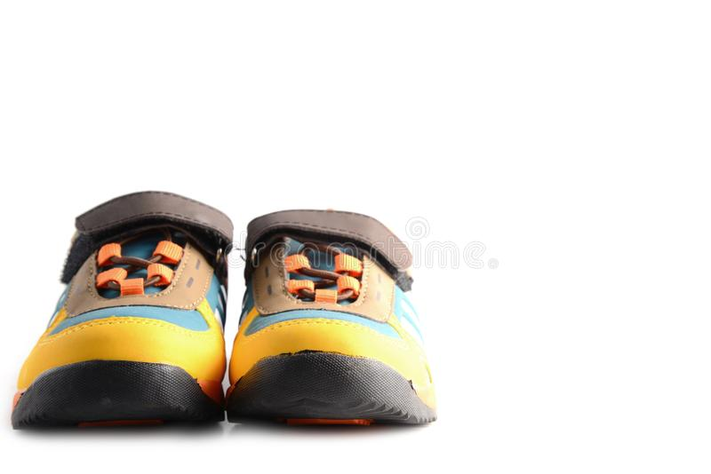 Modern children`s sport shoes. royalty free stock images