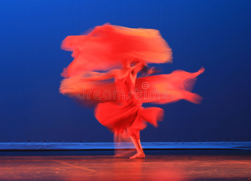 The Modern Chinese Dance stock image