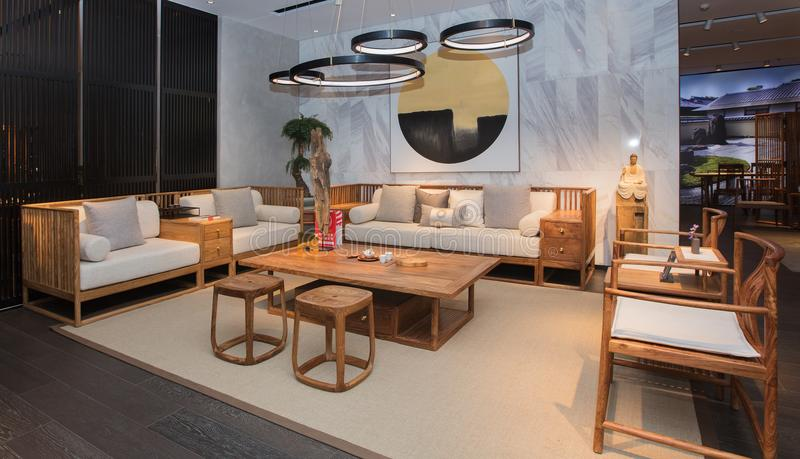 Modern Chinese mahogany furniture royalty free stock image