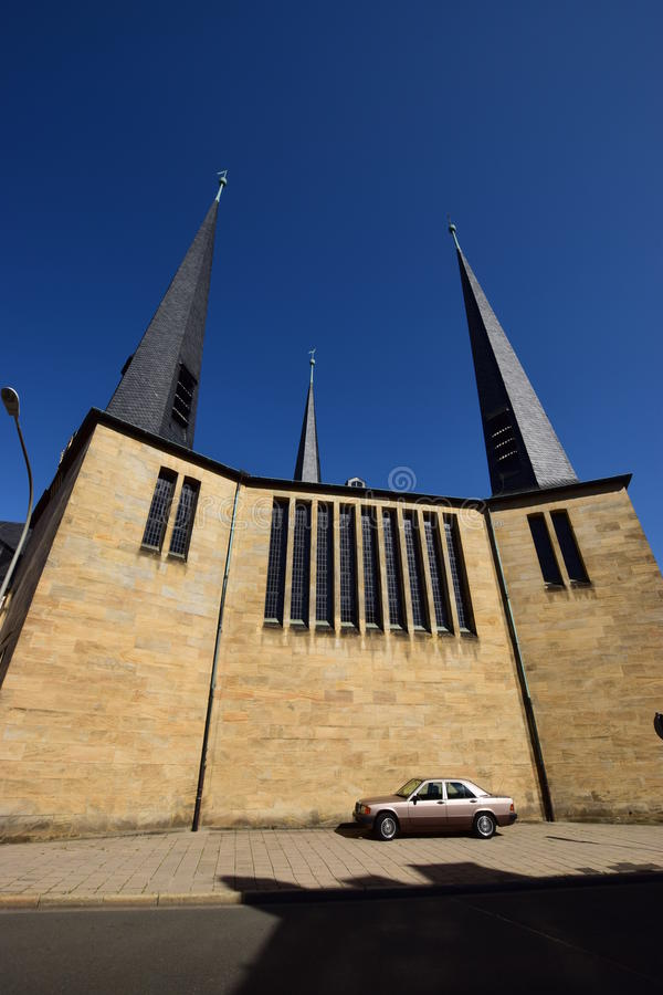 Modern Christ Church in Bayreuth, Germany royalty free stock image