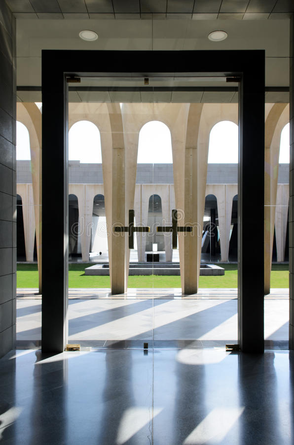 Modern Christian architecture royalty free stock image