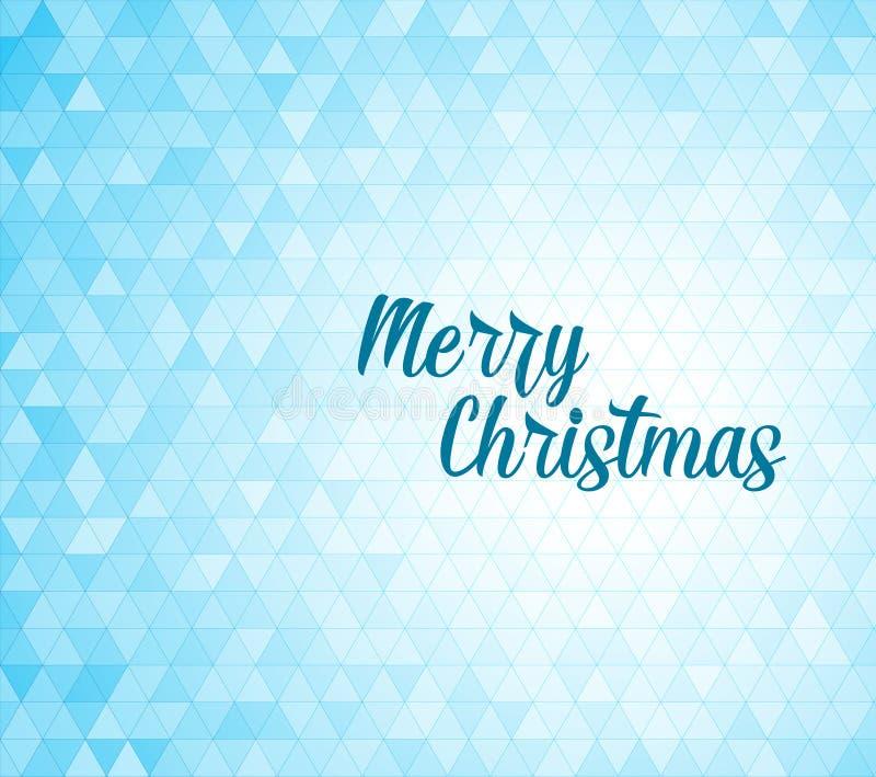 Modern Christmas Card Template Stock Vector Illustration Of - Christmas card template blue