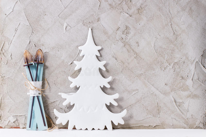 Modern Christmas decor royalty free stock photo