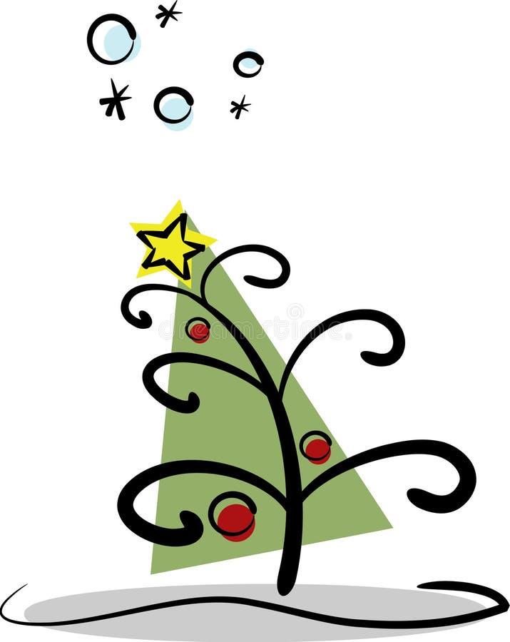 Modern Christmas Tree stock illustration