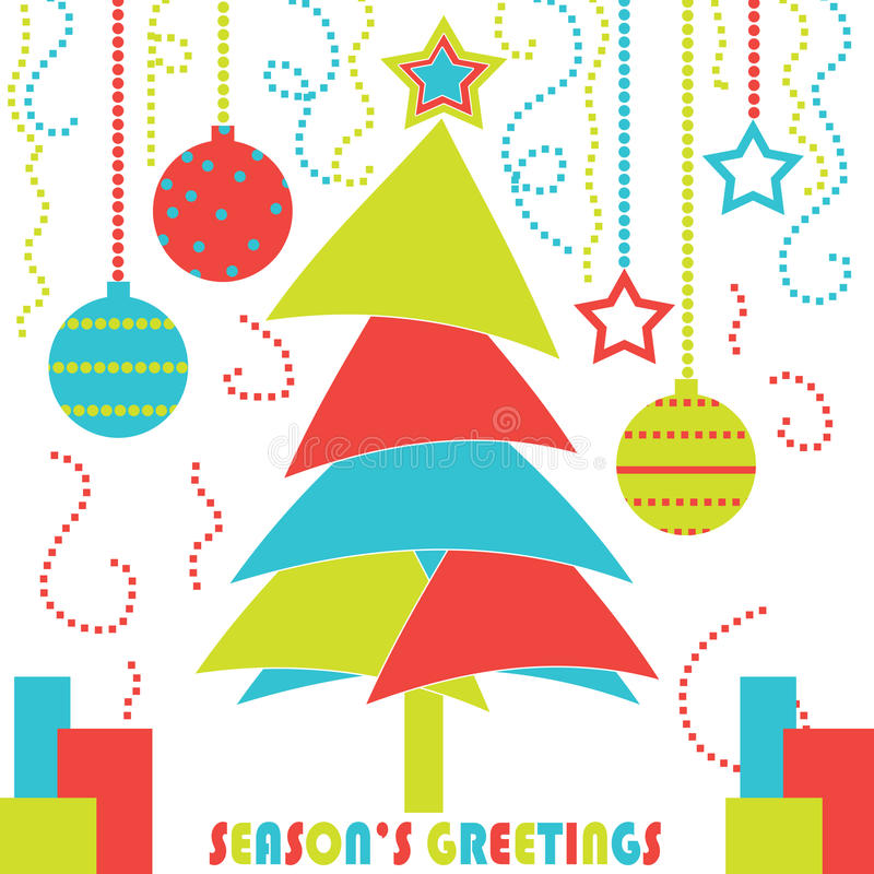 Download Modern Christmas Tree Card stock illustration. Image of greetings - 27030887
