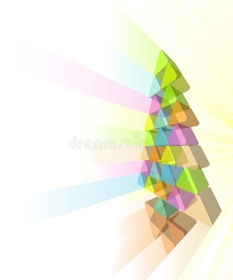 Modern Christmas Tree Concept Royalty Free Stock Image