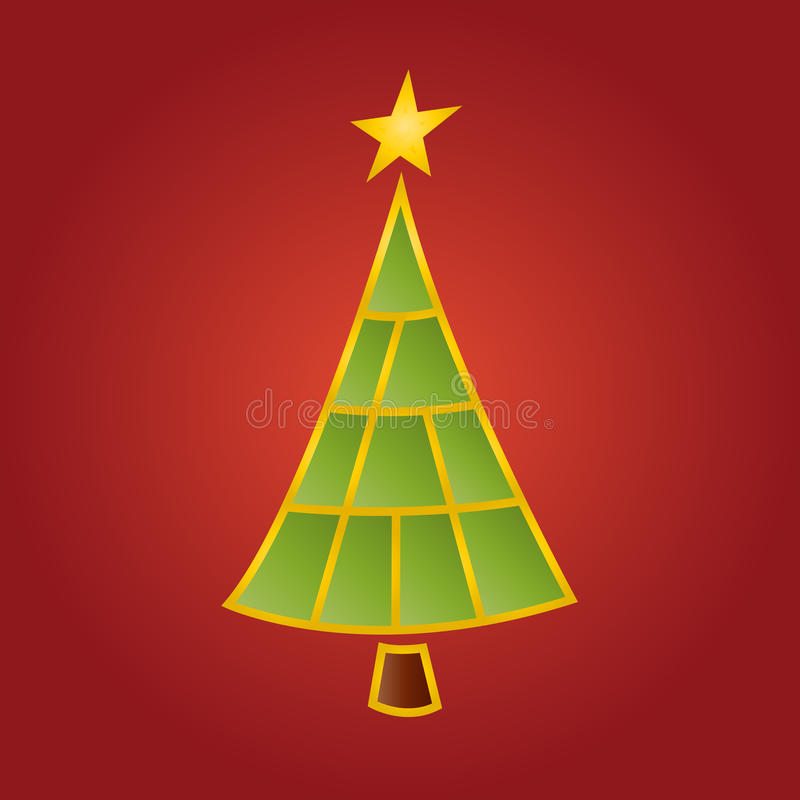 Download Modern Christmas tree stock vector. Illustration of holiday - 32998699