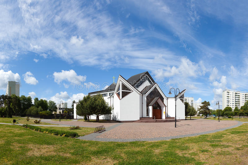 Download Modern church in Gdansk stock image. Image of construction - 25139455
