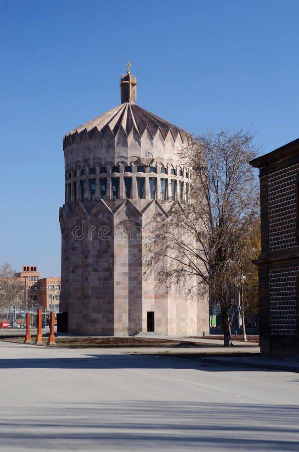 Modern church of Holy Archangels in Echmiadzin monastery,Armenia royalty free stock photography
