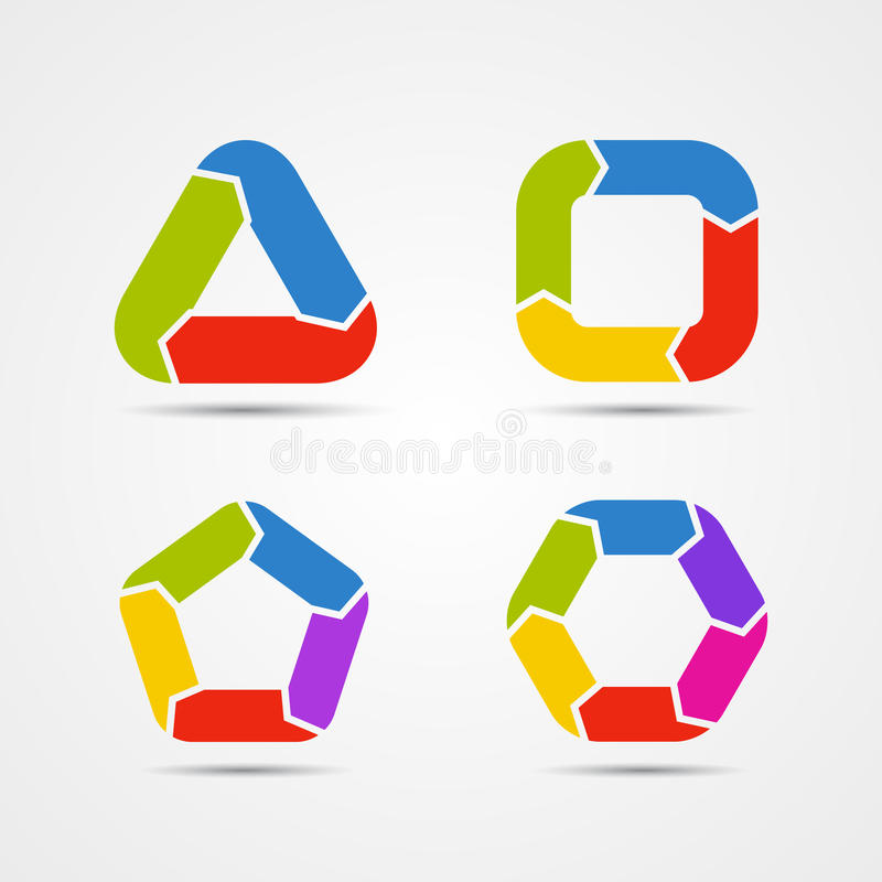 Free Modern Circle Arrows For Info Graphic Royalty Free Stock Images - 38761779