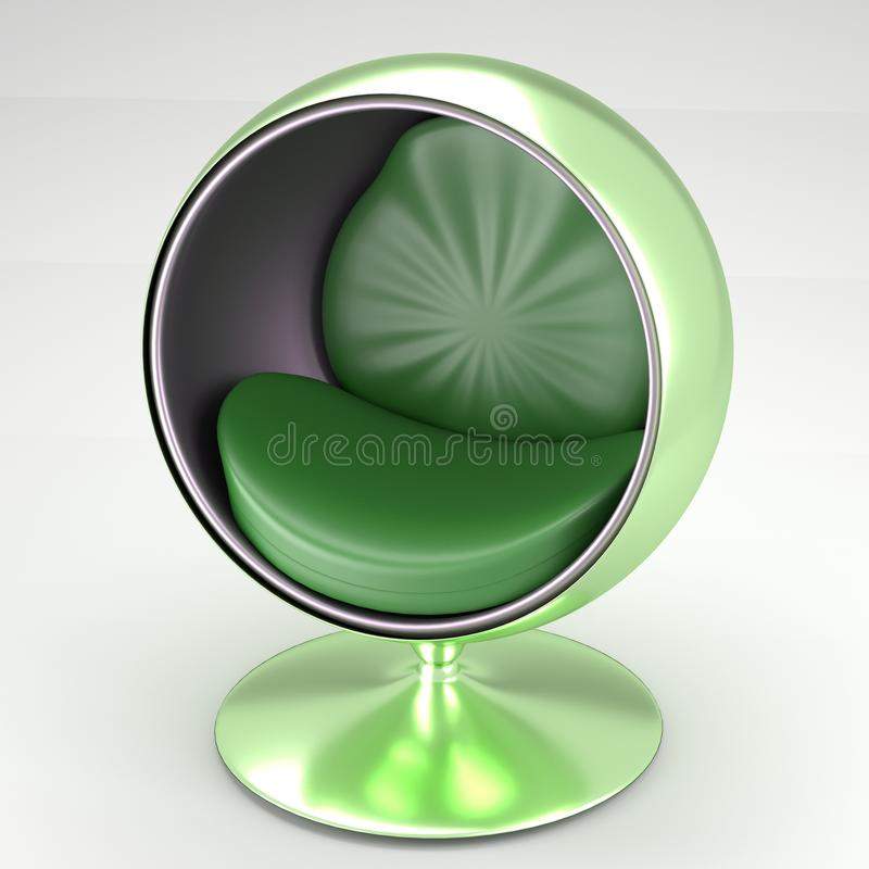 Delightful Download Modern Circular Chair In Green Stock Illustration   Image: 60819472