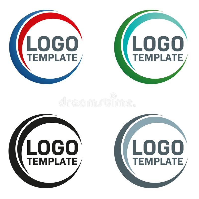 Modern circular company logo template royalty free illustration