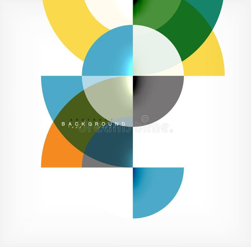 Modern cirkelabstrakt begreppbakgrund royaltyfri illustrationer
