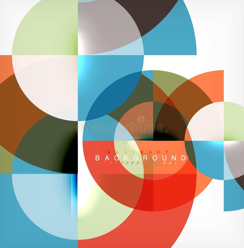 Modern cirkelabstrakt begreppbakgrund stock illustrationer