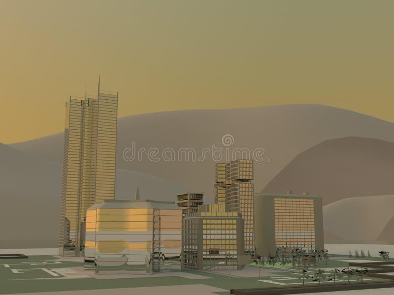 Modern city architecture vector illustration