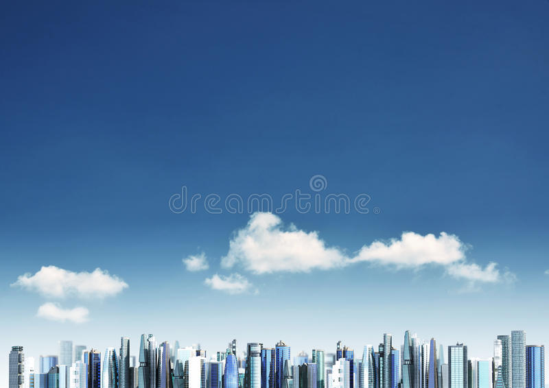 Modern city background royalty free stock photo