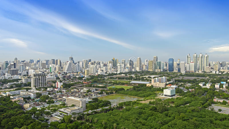 Download Modern city of Bangkok stock image. Image of field, building - 37660863