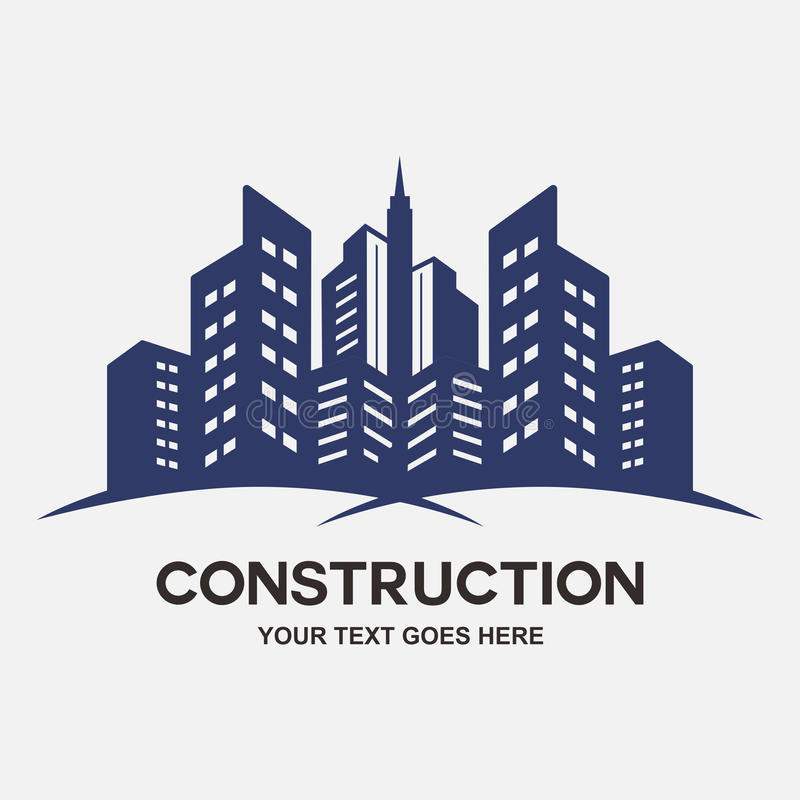 Modern city Buildings construction stock illustration