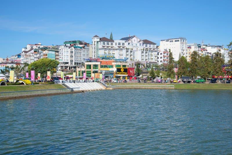 The modern city centre of Dalat, sunny day. Vietnam stock photos