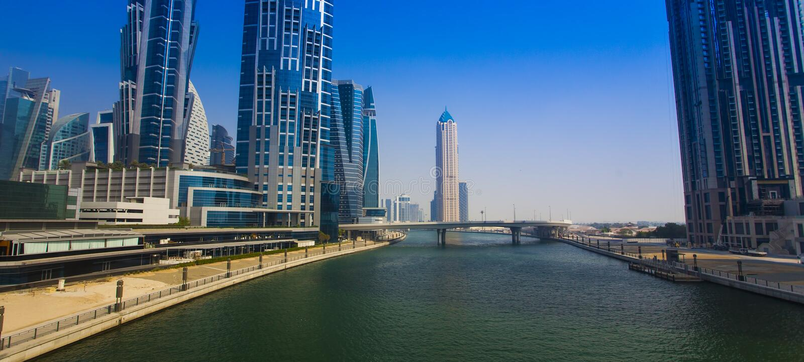 Modern city of Dubai stock images