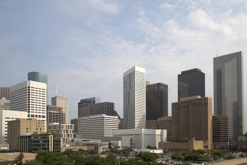 Modern city Houston TX stock photo